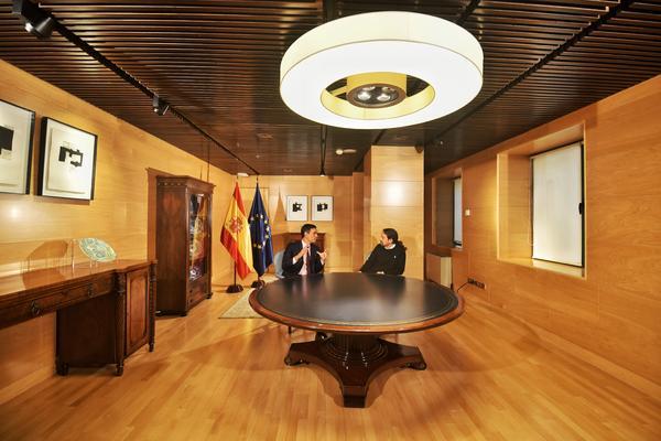 Sánchez e Iglesias se reunen en el Congreso