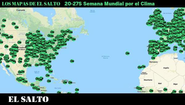 Mapa: más de 2.000 convocatorias en la Huelga Mundial por el Clima